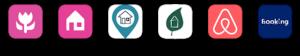 U vindt ons op: bedandbreakfast.nl/eu | huisjes.net | bnb.direct | natuurhuisje.nl | airbnb | booking