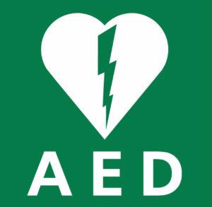 AED - defibrillator aanwezig